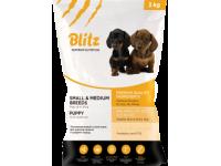 Blitz, Puppy, корм д/щенков мелких и средних пород (курица)