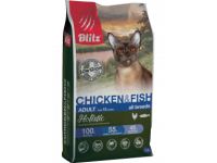 Blitz, Holistic, корм д/кошек (курица/рыба)