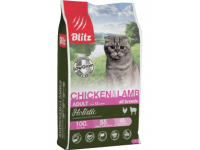 Blitz, Holistic, корм д/кошек (курица/ягненок)