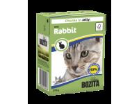 Bozita, влажный корм д/кошек (кусочки желе с кроликом)