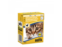 Bozita, влажный корм д/кошек (кусочки в соусе курица/индейка)
