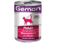 Gemon, Adult, влажный корм д/кошек кусочки (говядина)