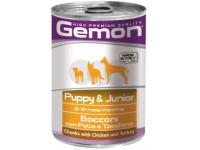 Gemon, Puppy, влажный корм д/собак кусочки (курица/индейка)