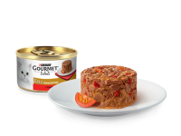 Gourmet, Gold, влажный корм д/кошек биточки (говядина/томаты)