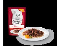 Gourmet, Mon Petit, влажный корм д/кошек (говядина)