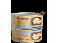 Grandorf, куриная грудка с креветками, влажный корм д/кошек