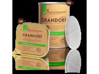 Grandorf, ягненок, влажный корм д/собак