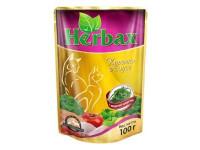 Herbax, влажный корм д/кошек (курочка в соусе)