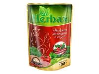 Herbax, влажный корм д/кошек (нежная телятина в соусе)