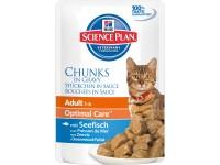 Hill's, SP, Optimal Care, влажный корм д/кошек (рыба)