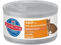 Hill's, SP, Optimal Care, влажный корм д/кошек (курица)