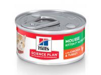 Hill's, SP, Kitten, влажный корм д/котят нежный мусс (курица/индейка)