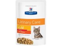 Hill's, PD, C/D Stress, влажный корм д/кошек МКБ+стресс (курица)