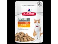 Hill's, SP, Sterilised, влажный корм д/ст.кошек и кастр. котов (курица)