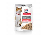 Hill's, SP, Sterilised, влажный корм д/ст.кошек и кастр. котов (лосось)