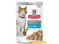 Hill's, SP, Sterilised, влажный корм д/ст.кошек и кастр. котов (форель)