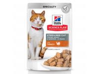 Hill's, SP, Sterilised, влажный корм д/ст.кошек и кастр. котов (индейка)