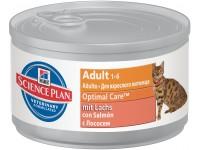 Hill's, SP, Optimal Care, влажный корм д/кошек (лосось)