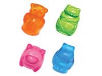 """Kong, """"Сквиз Джелс"""", игрушка  д/собак в ассорт. (бобер, лягушка, бегемот, свинка) 8 см"""