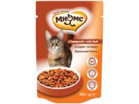 Мнямс, влажный корм д/кошек (говядина в соусе)
