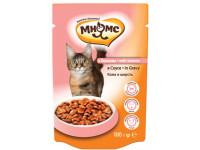 Мнямс, влажный корм д/кошек (лосось в соусе)