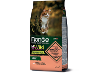 Monge, BWild Grain Free Adult, корм д/кошек (лосось/горох)