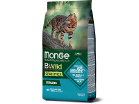 Monge, BWild Grain Free Adult, корм д/кошек для стерилизованных (тунец/горох)