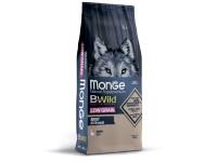 Monge, BWild Low Grain низкозерновой корм д/собак всех пород (гусь)
