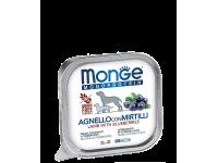 Monge, Monoprotein Fruits, влажный корм д/собак (ягненок/черника)