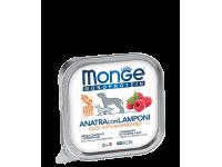Monge, Monoprotein Fruits, влажный корм д/собак (утка/малина)
