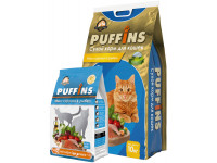 Puffins, корм д/кошек (микс курочка/рыбка)