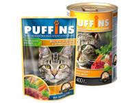 Puffins, влажный корм д/кошек (мясное ассорти в желе)