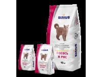 Sirius, корм д/кошек (лосось и рис)