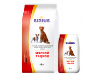 Sirius, корм д/собак всех пород (мясной рацион)
