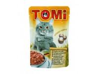 TOMi, влажный корм д/кошек (птица/кролик в соусе)