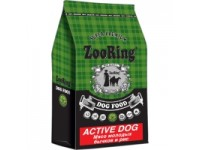 ZooRing, Active Dog, корм д/собак ср/кр пород (бычок/рис)