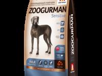 Zoogurman, Sensitive, корм д/собак сред.и крупных пород (ягнёнок/рис)