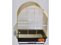 Золотая клетка, Средняя круглая крыша для птиц, золото (35х28х46 см.)