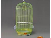 Золотая клетка, Средняя круглая для птиц, эмаль (33х67 см.)
