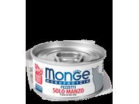 Monge, Monoprotein, влажный корм д/кошек (мясо говядины)