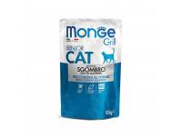 Monge, Cat Grill Pouch, влажный корм д/пожилых кошек (макрель)