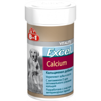 8 in 1, Excel, Calcium, кальций д/собак (155 таб.)