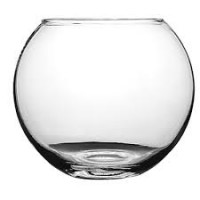 Аквариум, круглый плоскодонный