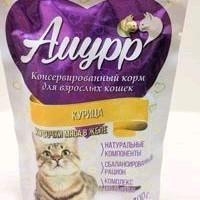 Амурр, влажный корм д/кошек (курица в желе)