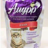 Амурр, влажный корм д/кошек (ягненок в желе)