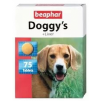 Beaphar, Doggy's + Liver витамины для собак 75 таблеток