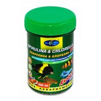 BioDesign, корм для рыб Spirulina&Chlorella (хлопья)