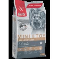 Blitz, Adult, корм д/собак мелких и миниат. пород (курица)