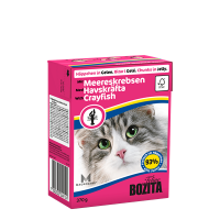 Bozita, влажный корм д/кошек (кусочки желе с лангустом)
