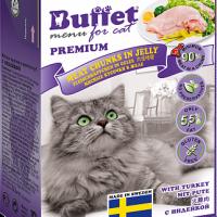 BUFFET, влажный корм д/кошек (индейка в желе)